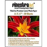 Finestra Art 11x17 Premium Luster Inkjet Photo Paper - 50 Sheets 8.5mil
