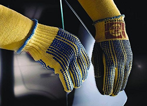 Ansell GoldKnit 70-340 PVC Gloves, Knitted Coated on Kevlar Liner, Large (Pack of 12 Pairs)