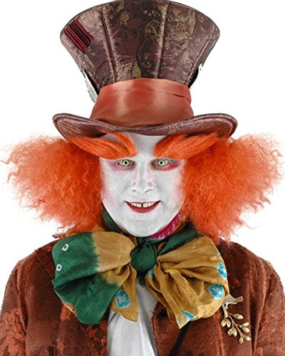 Mad Hatter Makeup (Elope Alice in Wonderland Madhatter eyebrows)