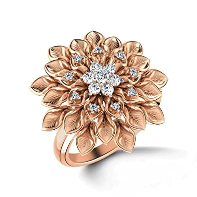 Buy CaratLane 18K Rose Gold and Diamond Ring line at Low Prices