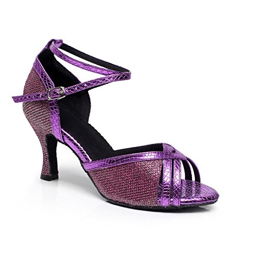 Misu Mujer Morado Para Danza Negro Zapatillas De B8Bqvwf7x