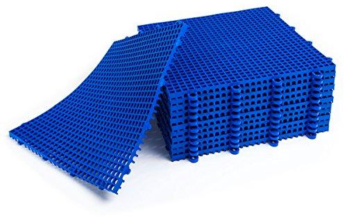DuraGrid ST24GRAY Comfort Tile Interlocking Modular Multi-Use Safety Floor Matting (24 Pack), Gray, Piece by DuraGrid® (Image #4)
