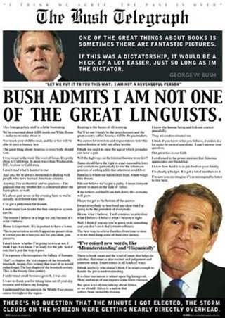 George Bush Political Satire Humour Quotes Poster 24 x 36 in