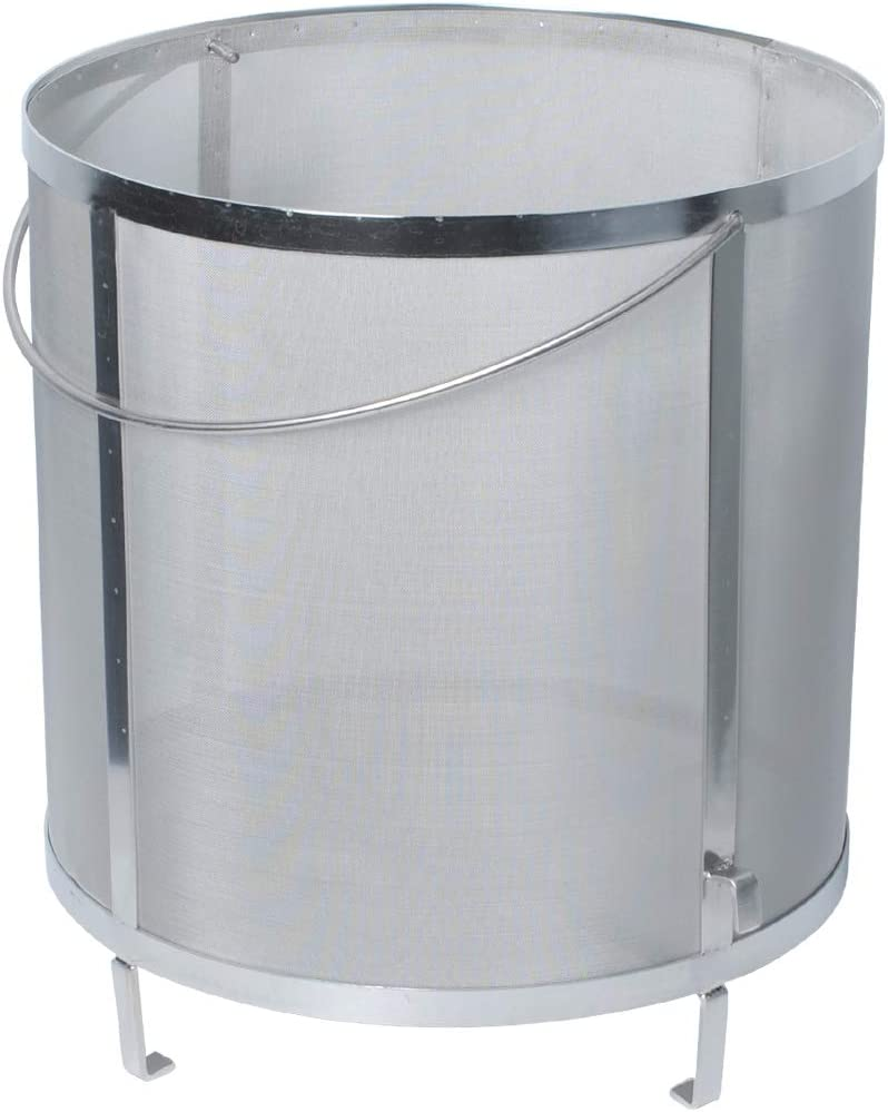 Gekufa Wine Hop Filter 300 Micron Mesh 304 Stainless Steel Strainer for Homebrew Wine Beer Tea Kettle Brew Filter(11.8×12.2 inch)
