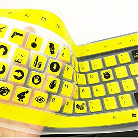 AST WORKS Keyboard Cover Protector Skin Film for PUBG Gaming