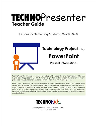 TechnoPresenter: Public Speaking Lessons for Kids, Tweens, and Teens, Google Slides Or PowerPoint Curriculum Unit (Office 2016) by TechnoKids