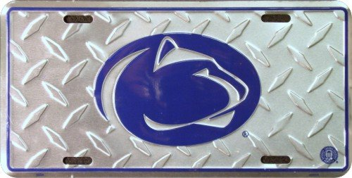 Penn State Diamond License Plate Tin Sign 6 x 12in