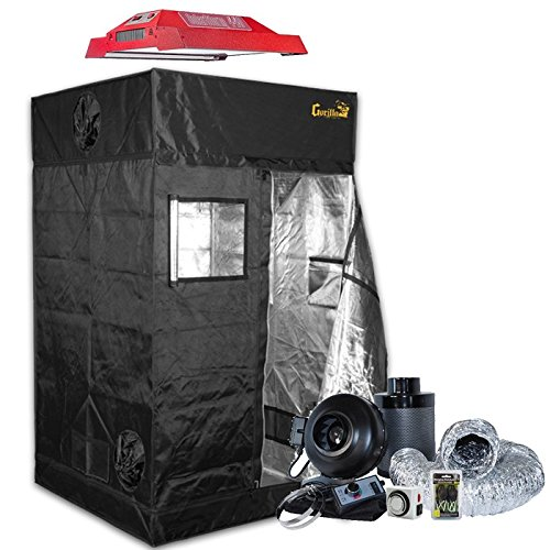 Gorilla Grow Tent 4' x 4' California Lightworks LED Grow Tent Package by Unknown