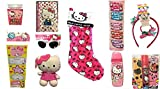 Hello Kitty Pink Christmas Stocking Filled with Stickers Sunglasses Hair Accessories