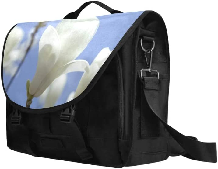 Men Laptop Bag Charming Blooming Orchids Multi-Functional Classic Shoulder Bag Fit for 15 Inch Computer Notebook MacBook