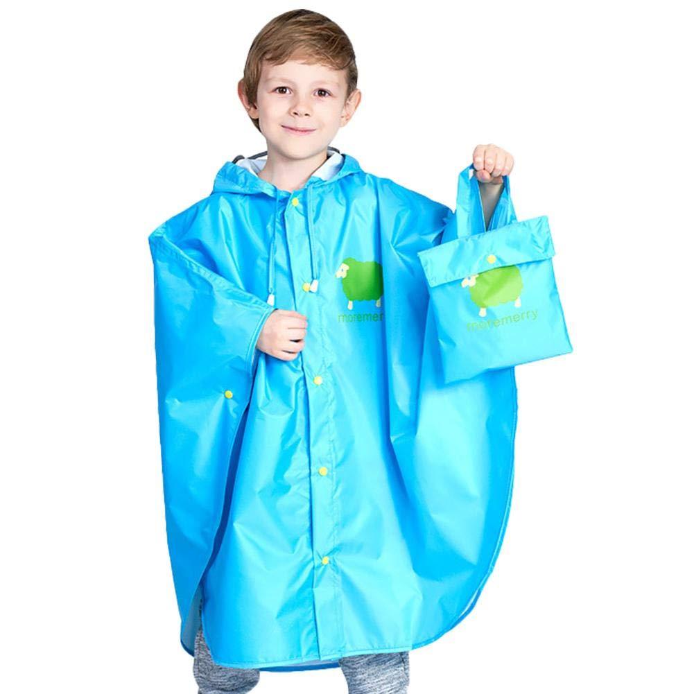 Garçons Filles Manteau Imperméable Poncho de pluie pour enfants - Portable léger et imperméable Imperméable de secours Poncho de pluie réutilisable pour les 5-12 ans, garçons et filles beautygoods
