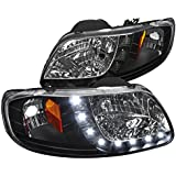 Spec-D Tuning 2LH-F150971PCJM-RS Ford F-150 Expedition Crystal Black 1PC Design SMD LED Headlights