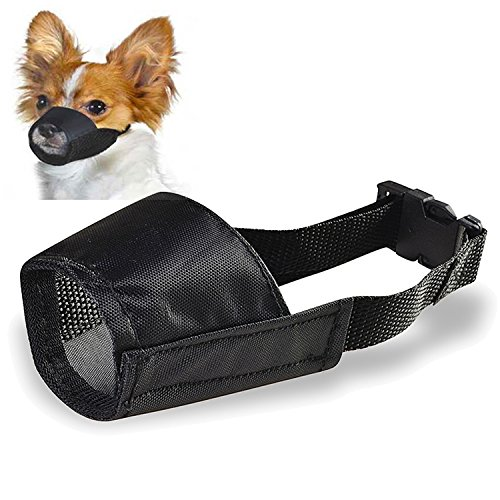 Classic Pet Products Muzzle (Insten Size 1 Fabric Dog Muzzle, Black)