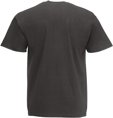 Camiseta de manga corta para hombre, de Fruit of the Loom, blanca, talla L Gris gris claro M: Amazon.es: Ropa y accesorios