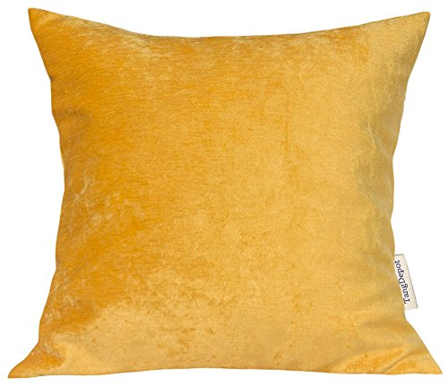 TangDepot Handmade Solid Chenille Decorative Throw Pillow Covers, Pillow Shams, Square pillow covers, Cushion Covers, Pillowcase - (16