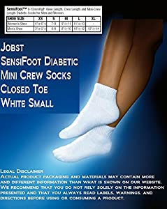 JOBST Sensifoot Mini-crew Closed Toe Socks by JOBST