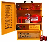 Brady Combined Lockout And Lock Box Station, Legend ''Safety Lockout Center'', Includes 6 Safety Padlocks