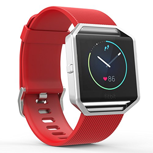 Wrist Electronic Watch (MoKo Fitbit Blaze Band, Soft Silicone Adjustable Replacement Sport Band Strap with Quick Release Pins for Fitbit Blaze Smart Fitness Watch, Wrist Length 5.90