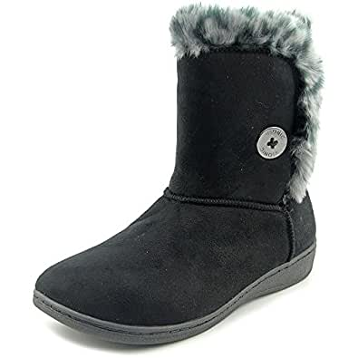 Amazon.com | Vionic Orthotic Slipper Snow Boots, Indulge