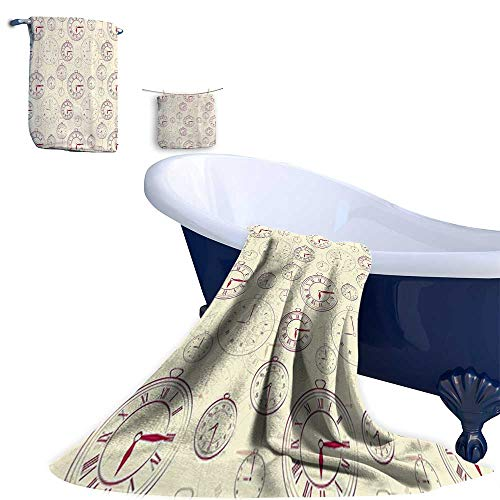 Home 3 Piece Bath Towel Set, Watch Roman Digits Wallpaper for sale  Delivered anywhere in USA