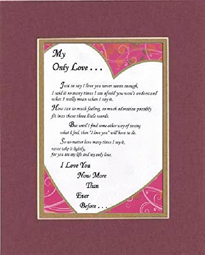 Amazon com: GoodOldSaying - Poem for Marriage & Love - My Only Love