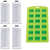 Aquasana AQ-CWM-R-D Replacement Filters for Clean Water Machines (4 Pack) Plus Free Ice Cube Tray
