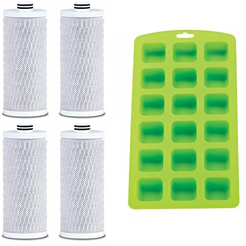 Aquasana AQ-CWM-R-D Replacement Filters for Clean Water Machines (4 Pack) Plus Free Ice Cube Tray by Aquasana