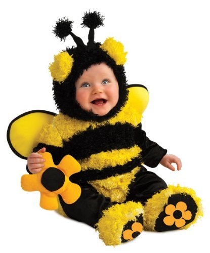 Baby Cute Halloween Costumes Animal (Rubie's Costume Noah's Ark Buzzy Bee Romper Costume, Yellow, 6-12)