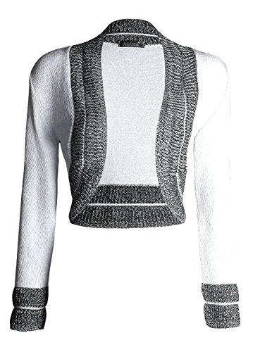 Forever Womens Knitted Long Sleeves Border Bolero Shrug Cardigan Top