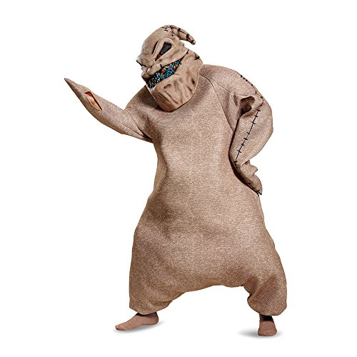 Disney Men's Oogie Boogie Prestige Adult Costume, Brown, (Mens Costumes)