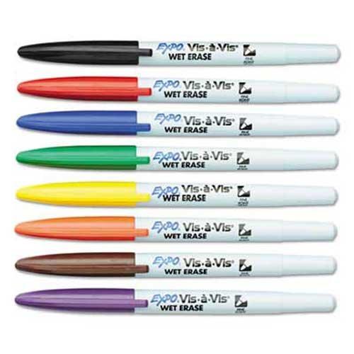 expo-vis-a-vis-wet-erase-marker-fine-point-assorted-8-set