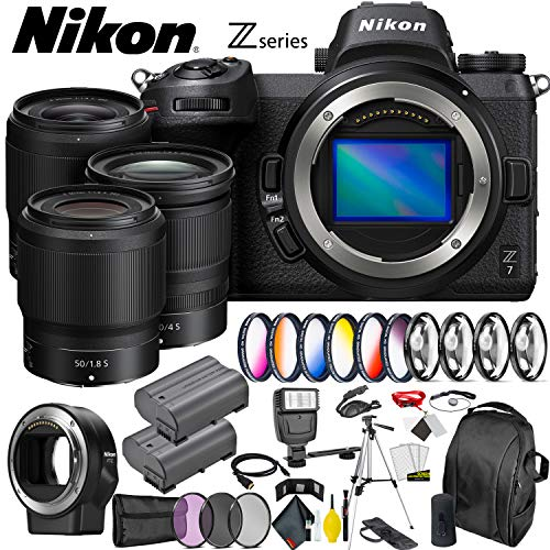 Nikon Z7 Mirrorless Digital Camera  + 24-70mm, 35mm, 50mm Le