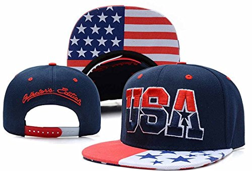 Tsptool USA American Flag Snapback Cap Adjustable United States Baseball Cap Hat (Halloween Store Iowa City)