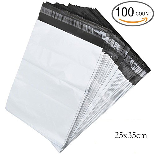 New 10x14 Inch Poly Mailers Shipping Envelope Bags with Self Adhesive Strip, Water Resistant, 100 count