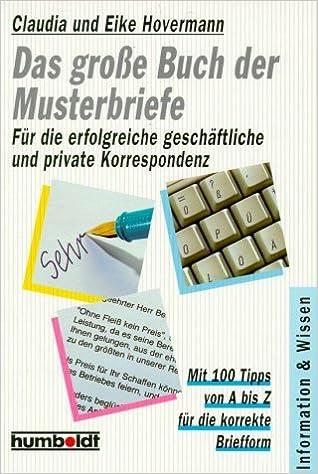 Das Große Buch Der Musterbriefe Amazonde Eike Hovermann Claudia