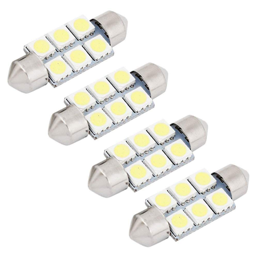 4Pcs Bianco Car Interior Light per Freemont Luci targa Lampade Mappa LED Lettura Bulbi Maiqiken