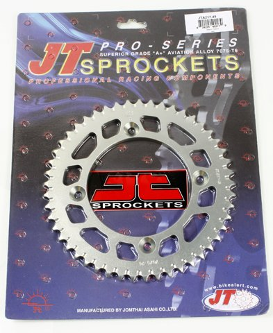 Rear Alloy Sprocket - JT REAR ALLOY SPROCKET (JTA217), 49 TOOTH, Manufacturer: JT SPROCKET, Manufacturer Part Number: JTA217.49-AD, Stock Photo - Actual parts may vary.