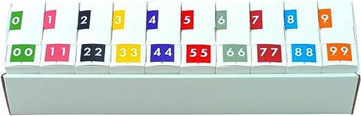 FNAVM Series Barkley Systems Numeric Label Black - 2 Rolls