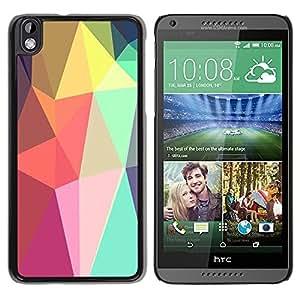 Paccase / SLIM PC / Aliminium Casa Carcasa Funda Case Cover para - Shapes Lollipop Android Purple - HTC DESIRE 816
