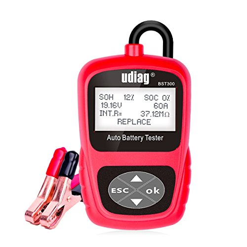 Car Battery Tester, Udiag BST300 Car Battery Analyzer 12V 100-2000 CCA 30-200 AH Automotive Battery Load Tester for Cars (Car Battery Load Tester)