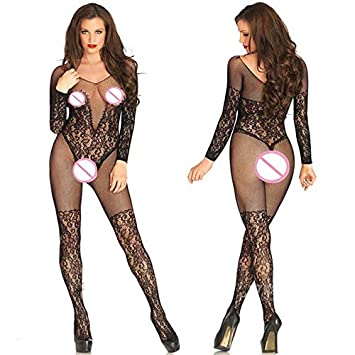a02c6c4ba1f Sexy Open Crotch Tights Women Ultra-thin Transparent Full Body Stockings  Hollow Out Fishnet Nylon