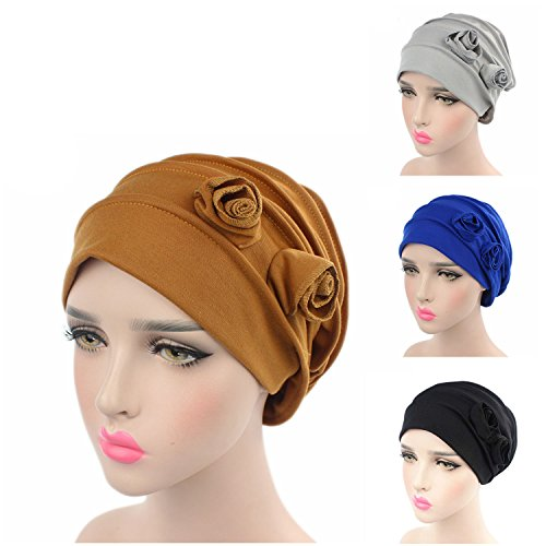 eafb3fab80f Ever Fairy 3 Colors Chemo Cancer Head Scarf Hat Cap Ethnic - Import It All