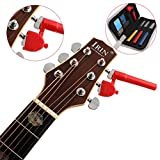 Hrph 6 PCS Guitar Setup Kit Nut files/String Spacing Ruler/Action Gauge Luthier Tools