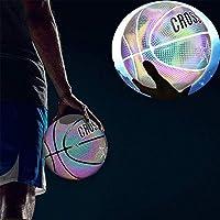 Profesional Suave Pelota de Baloncesto para ni/ños y j/óvenes Juego de Baloncesto para Juegos nocturnos Reflectante con iluminaci/ón