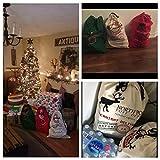 3 Pack Christmas Bag Santa Sack Canvas Bag For