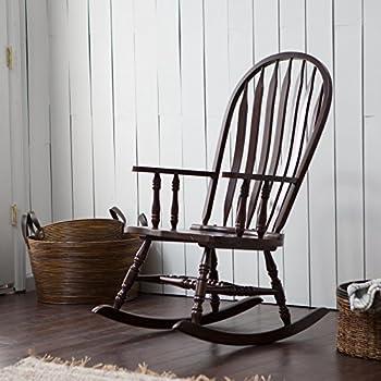 Amazon Com Cappuccino Arrow Windsor Back Rocking Chair