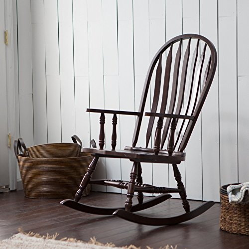(Belham Living Windsor Indoor Wood Rocking Chair, Durable and Strong, Espresso Finished)