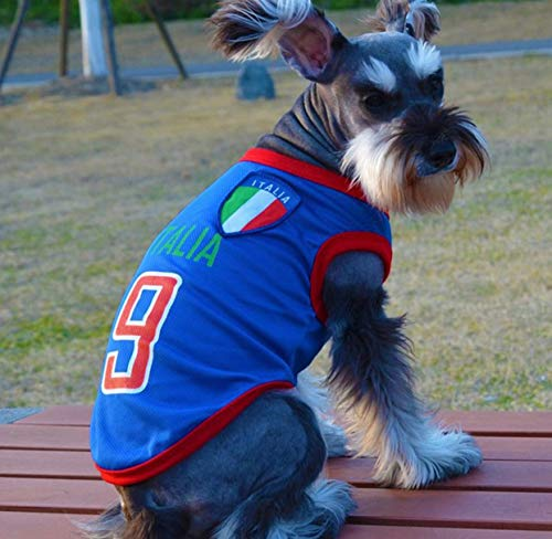 - Trend68 Dog Football T-Shirt, National Soccer World Cup, FIFA Jersey for Pet (Medium, Italy)