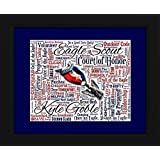 Eagle Scout 16x20 Art Piece - Beautifully matted and framed behind glass