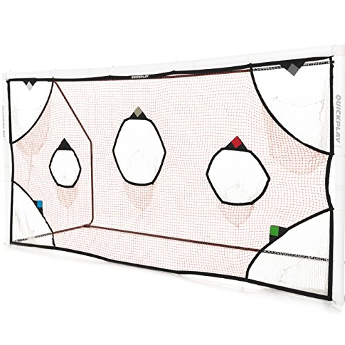 QuickPlay PRO Soccer Goal Target Nets with 7 Scoring Zones – Practice Shooting & Goal Shots (12 x 6') (Soccer Goal Post Size)